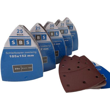 25 Stück Klett-Schleifblätter 105x152 mm Korn 240 für Multischleifer Bosch Prio