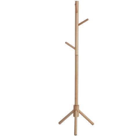 125cm Wooden Tree Coat Rack Stand Floor Standing Coat Racks Hanger 6 Hooks