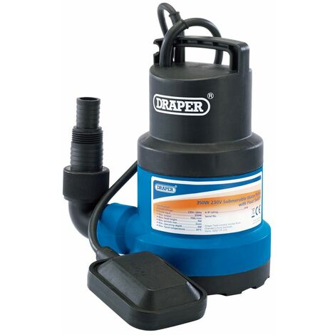 Draper 61621 Submersible Sub Dirty Water Pump with Float Switch 166L//min