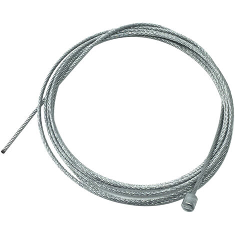 1,25m. cable de acero con terminal para colgar lámparas 1,2mm.