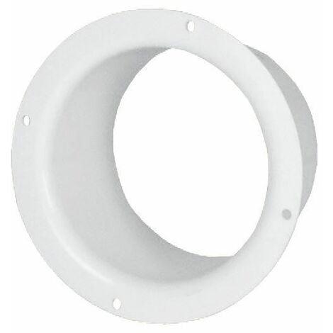 125mm Diamètre Blanc Plastique Ventilation Tuyau Canalisation Mur Bout Uni