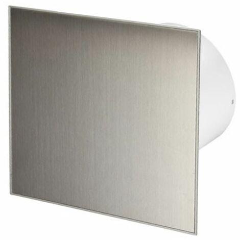 125mm Humidité Detecteur Hotte Ventilateur Inox Panneau Avant TRAX Mur Plafond Ventilation