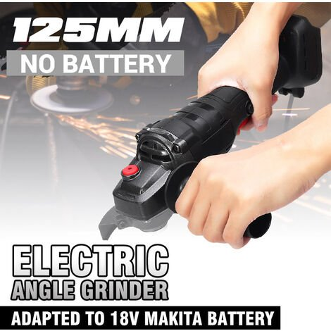 125MM Lithium Ion Angle Grinder Rechargeable Multifunction Angle Grinder for Polisher (Product does not include batteries!) (Black, 125mm)