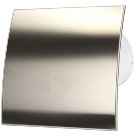 125mm Standard Extractor Fan Inox Front Panel ESCUDO Wall Ceiling Ventilation