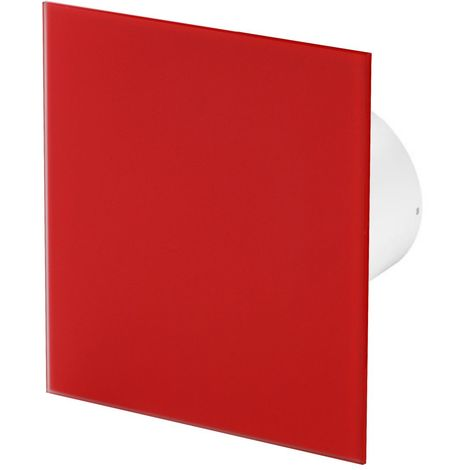 125mm Standard Extractor Fan Matte Red Glass Front Panel TRAX Wall Ceiling Ventilation