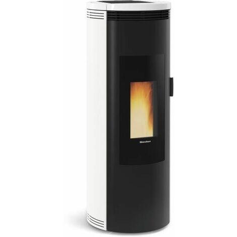 1283501-POELE A GRANULES ETANCHE-8KW-A+-FLAMME VERTE 7*-CSTB-FOYER FONT NORDICA EXTRAFLAME - AMIKABLANC