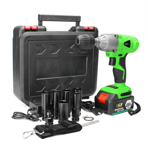 128Vf 3/8 Inch Cordless & Electric Wire, Wireless Impact Wrench, Large Torque