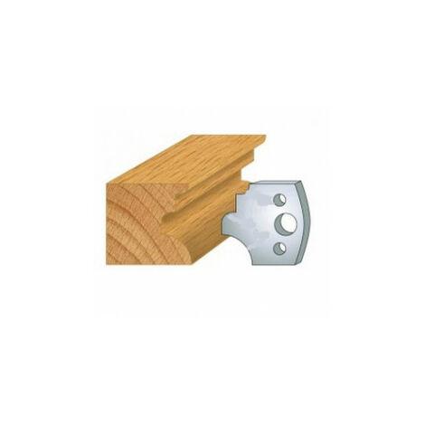 129 : jeu de 2 fers 40 mm moulure pour porte outils 40 et 50 mm