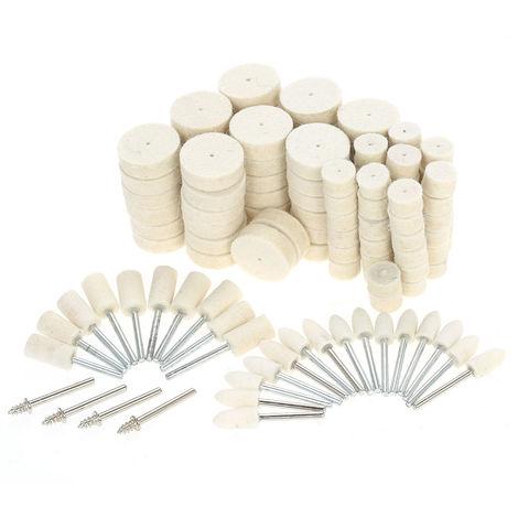 129 piezas, rueda de pulido abrasiva, herramientas de pulido