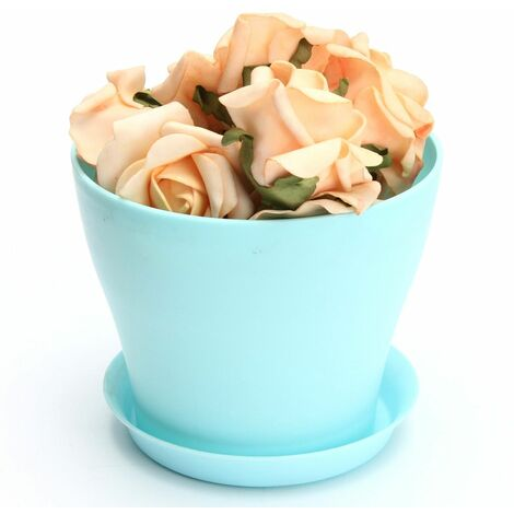 12CM Mini Flower Pot with Saucer Plant Garden Office Home Decor WASHED