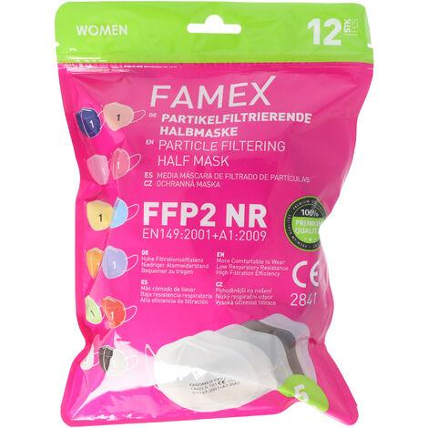 """main image of """"12er Pack FFP2 Masken Bunt für Frauen 5-Lagig, zertifiziert nach DIN EN149:2001+A1:2009, partikelfiltrierende Halbmaske, FFP2 Schutzmaske"""""""