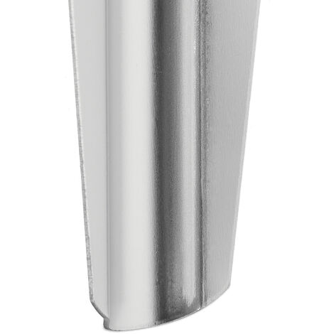 12er Set Sandheringe, leichte Zeltheringe aus Aluminium, weiche & sandige Böden, breit, 32,5 cm lang, silber