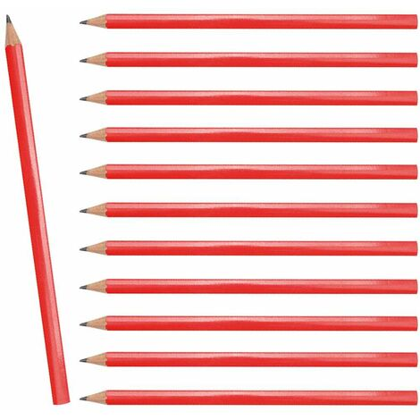 12er Set Zimmermann Bleistifte 180 mm Rot