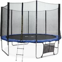 12ft Trampoline with Safety Net & Accessories Kit - 3 Colours - PRO Quality EU Standards