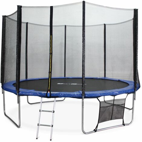 12ft Trampoline with Safety Net & Accessories Kit - Blue - PRO Quality EU Standards