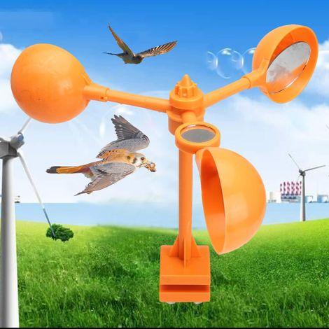 12Inch Moulin à Vent Oiseau Effaroucheur Angle D'Angle Outils De Vent En Plastique Orange Pour Exterieur