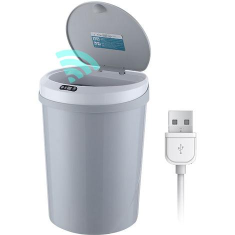 12L / 3.2Gal Beruhrungslose Abfalleimer Abfalleimer Automatische Garbage Can Infrarot-Bewegungsmelder Mit Deckel Fur Kuche Badezimmer Buro Schlafzimmer Klopf