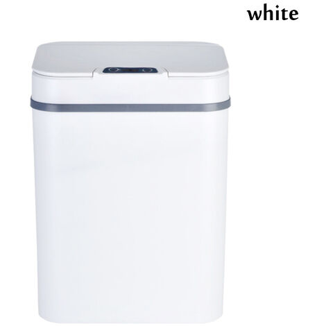 12L Automatic Sensor Dustbin Trash Can Induction Waste Bin Infrared Touchless white