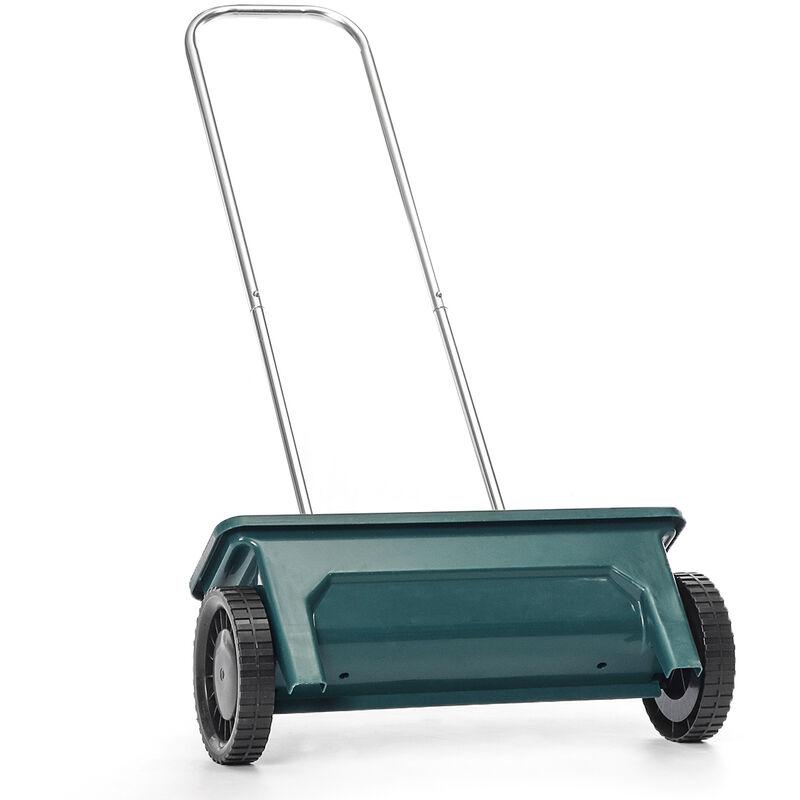 Image of 12L Fertilizer Truck Garden Lawn Seed Salt Grit Sand Spreader Fertiliser Feed Grass Plastic 110X57X20cm Green