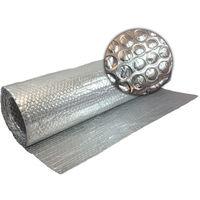 1.2m x 50m Double Aluminium Single Layer Bubble Wrap Foil Insulation Loft Wall