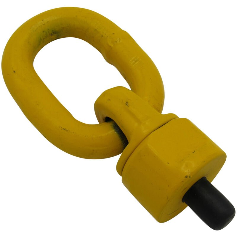 Image of 12MM Grade 80 1 Ton Swivel Eyebolt With Link - 0.5T Lifting Rotating Hoisting Point