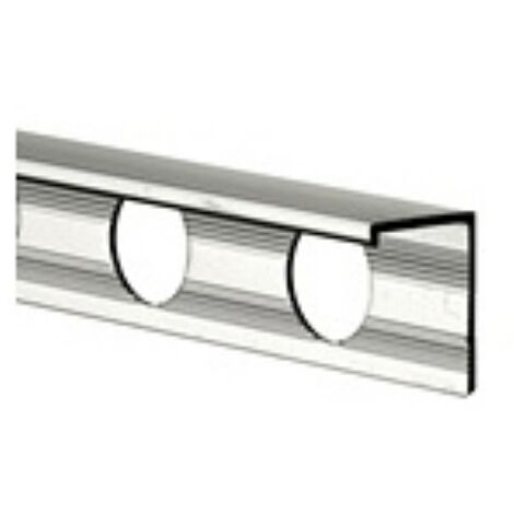 12mm L Shape Economy Tile Trim Silver - Metal