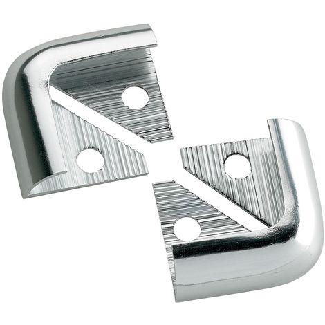 12mm Quadrant Economy Corners Silver Pack Of 2
