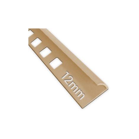 12mm Quadrant Economy Tile Trim Soft Peach - PVC