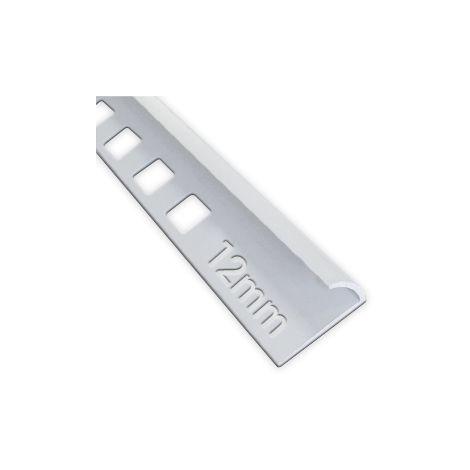 12mm Quadrant Economy Tile Trim White - PVC