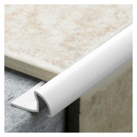 12mm Quadrant Pro Tile Trim White - PVC