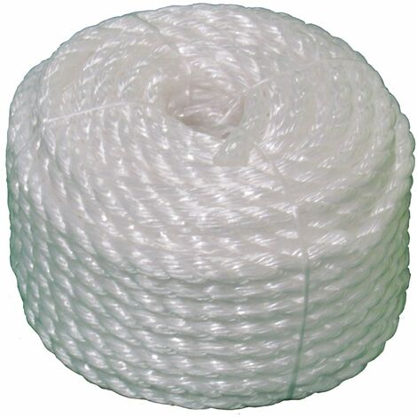 12MM x 35M White Polypropylene Rope Coil - Camping Shipping Mooring Fender Yacht
