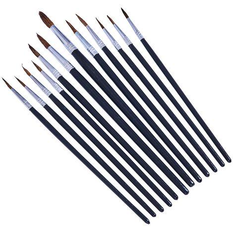 12pc Fine Pointed Tip Art Brush Set