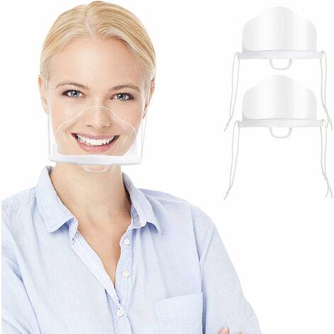 12pcs Visière de Protection, Anti-buée Anti-éclaboussures d'huile Visière de Protection Transparente, Visage Universelle Face Shield