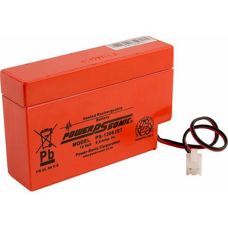 12V 0.8Ah SLA battery Powersonic PS-1208 JST