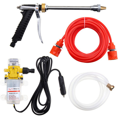 12V 100W 160Psi High Pressure Car Cleaner Water Wash Pump Sprayer Tool