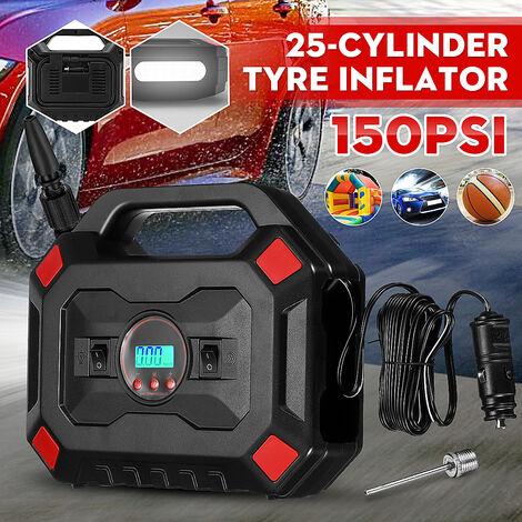 12V 150PSI 35L / min compresseur d'air pompe à Air de voiture numérique pour voiture pneus de vélo balles anneaux de natation jouets, avec lumière LED et écran LCD