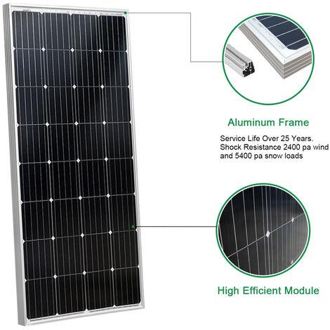 12V 150W Mono Solar Panel off Grid Battery Charging for Boat Caravan Camping