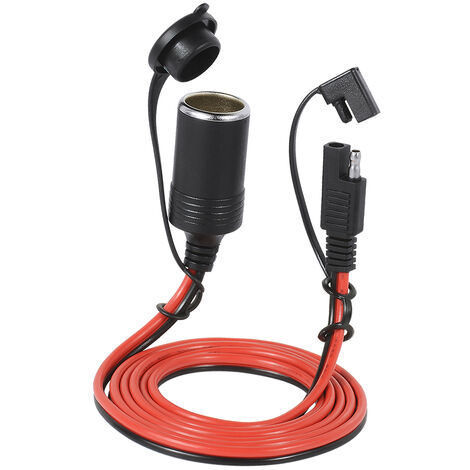 12V 20A Sae Prise Allume-Cigare Chargeur De Voiture Connecteur Femelle Prise Etanche 2 Broches Adaptateur De Deconnexion Rapide 1.5 M Cable D\'Extension Avec Fusible, Multicolore