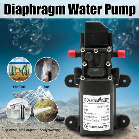 12V/24V 70W DC Diaphragme Pompe à Eau Auto-amorçante Haute Pression 6L