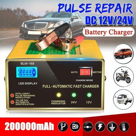 12V / 24V Auto Car Pulse Repair LCD Lead Acid Intelligent Tool -EU Plug (EU Plug)