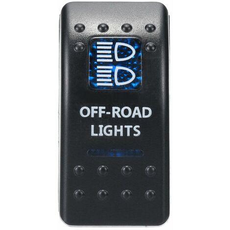 12V-24V CE SPST ON-OFF 5/7 Pin Boat Car Caravan Waterproof Red LED Rocker Switch (Offroad Lights)