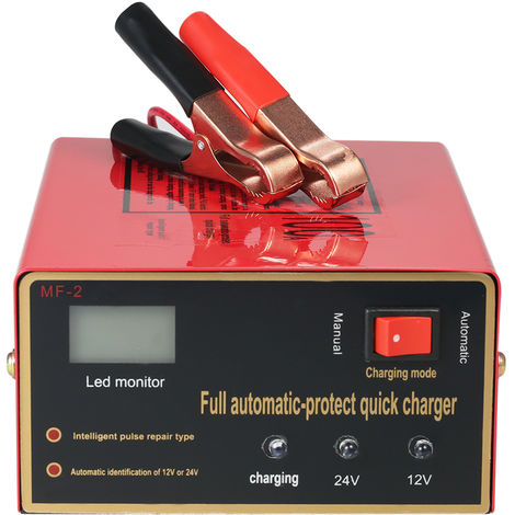 12V/24V Intelligent Automatic LED Charger Pulse Repair Type Maintainer for Lead Acid Battery and Lithium Battery