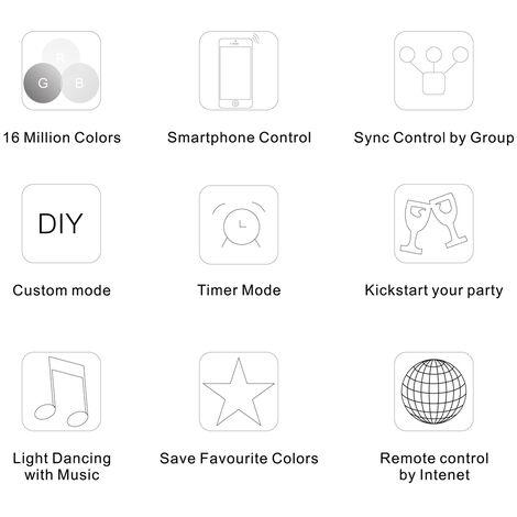 12V-24V Led Rgb Wifi Controller Pour La Bande De Lumiere Led Rgb 5050/3538 Lumiere / Ampoule 3 Canaux Smartphone Pour Ios / Android App Pour Le Controle Avec Musique / Synchronisation Fonction