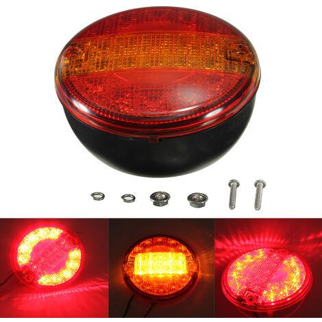 12V / 24V Universal LED E4 Lámpara de parada trasera Luz de advertencia bicolor Caravana Camión Auto
