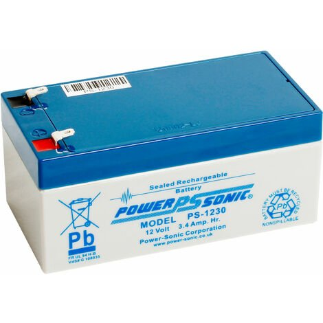 "main image of ""12V 3.4Ah SLA battery Powersonic PS-1230"""