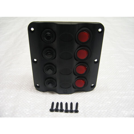 """main image of """"12V 4 Gang Wave Design Switch Panel - Circuit Breakers IP65 Water Resistant"""""""