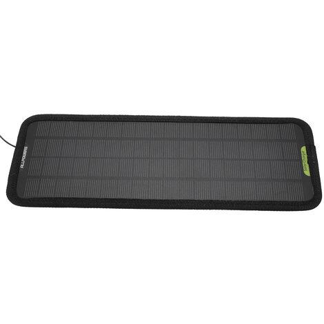 12V 4.5W (sortie 18V) 320x120x4mm / 12.7 * 4.8 * 0.2inch Chargeur de sauvegarde de panneau de batterie solaire de voiture portable intelligent pour la maison de moto de bateau de voiture (couleur: noir)