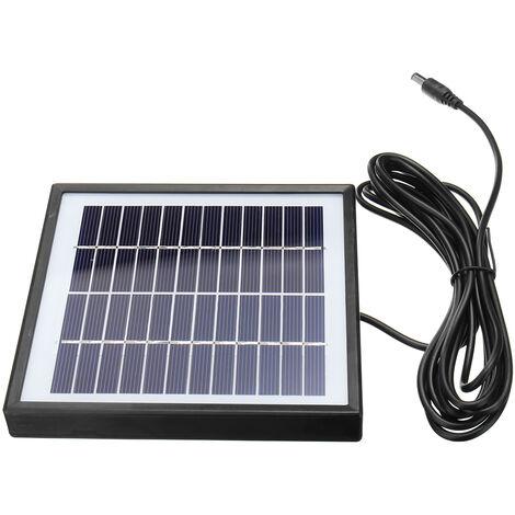 12V 5W Polysilicon Panel solar Cargador de batería Cámaras de vigilancia Cable