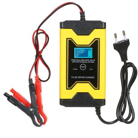 12V 6A Batterie De Moto Chargeur Reparation Pulse Intelligent Type De Chargeur Rapide Cellulaire Pour La Voiture Smart Battery Mainteneur Avec Affichage Numerique Pour Humide Sec Acide De Plomb De La Batterie
