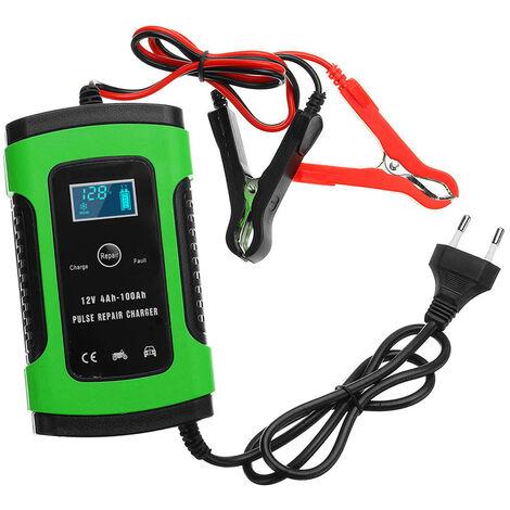 12V 6A Voiture Chargeur De Batterie D'Alimentation Rapide Intelligente De Charge De Reparation D'Impulsion Chargeur Automatique De Batterie Pleine Mainteneur Humide A Sec Acide De Plomb Chargeur De Batterie De Voiture De Demarrage D'Urgence Jump Puissance